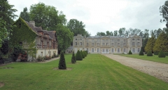 Château de Vaussieux - Deutsch: Schloss Vaussieux in Vaux-sur-Seulles und ehemalige Schlossmühle, Calvados, Normandie