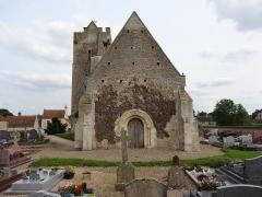 Eglise de Grisy - Français:   Façade occidentale de l\'église Saint-Brice de Grisy à Vendeuvre