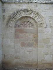 Ancien manoir de l'abbaye du Mont-Saint-Michel, dit Ferme de la Baronnerie - Français:   Vestige de l\'église Saint-Pierre (XIIe siècle) du Domaine de la Baronnie de Bretteville-sur-Odon (14)