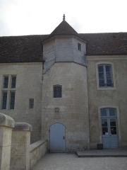 Ancien manoir de l'abbaye du Mont-Saint-Michel, dit Ferme de la Baronnerie - Français:   Tourelle d\'escalier du manoir du Domaine de la Baronnie de Bretteville-sur-Odon (14)
