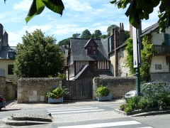 Trois maisons dites maison natale d'Erik Satie - Deutsch: Haus von Erik Satie in Honfleur, Frankreich