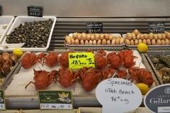 Halle aux poissons dite poissonnerie - Deutsch:   Trouville-sur-Mer Fischhalle: Das weltbekannte Seebad Trouville-sur-Mer liegt an der Kanalküste zwischen Caen und Le Havre. Der Küstenabschnitt wird als Côte Fleuri benannt (Blumenküste).