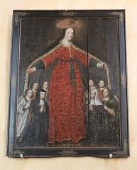 Ancien prieuré - Français:   Église Saint-Laurent d\'Arnay-le-Duc (21). Intérieur. Tableau de la Vierge auxiliatrice.