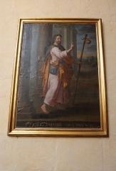 Ancien prieuré - Français:   Église Saint-Laurent d\'Arnay-le-Duc (21). Intérieur. Tableau. Saint-Jacques-le-Majeur.