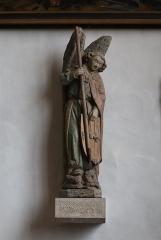 Ancien prieuré - Français:   Église Saint-Laurent d\'Arnay-le-Duc (21). Intérieur. Statue de Saint-Michel.