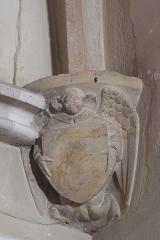 Eglise - Deutsch: Katholische Kirche Saint-Martin in Auxey-Duresses im Département Côte-d'Or (Bourgogne-Franche-Comté/Frankreich), Konsole