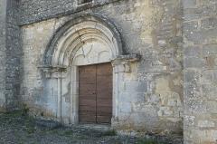 Eglise du Petit Auxey - Deutsch: Kirche Saint-Symphorien in Auxey-le-Petit (Auxey-Duresses) im Département Côte-d'Or (Bourgogne-Franche-Comté/Frankreich), romanisches Hauptportal