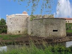 Château - English: Auxonne - Château Louis XI - Tours Haute et Basse des Moulins,  Burgundy, FRANCE