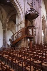 Eglise Notre-Dame - Chaire de l'église Notre-Dame d'Auxonne (21).
