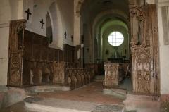Eglise Saint-Jean-l'Evangéliste - Stalles, Église Saint-Jean-l'Evangeliste de Bard-le-Régulier, Côte-d'Or, France.