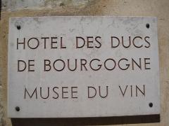 Hôtel des Ducs de Bourgogne - Français:   Hôtel des ducs de Bourgogne (Beaune)