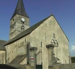 Eglise et son cimetière -  Bussy-le-Grand, Église Saint-Antonin (12e siècle)