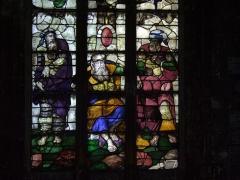 Eglise Saint-Nicolas -  Vitrail (1535-1540, restauré).Église Saint Nicolas de Châtillon-sur-Seine, France .