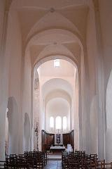 Eglise Saint-Vorles - Deutsch: St-Vorles de Châtillon-s-S, Langhaus zum Chor