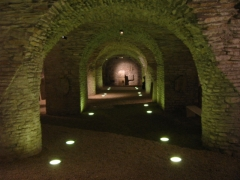 Ancienne abbaye Saint-Bénigne - Français:   Crypte de l\'abbaye Saint-Bénigne de Dijon