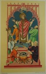 Ancienne abbaye Saint-Bénigne - Français:   dessin de Gaussen