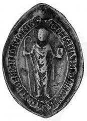 Ancienne abbaye Saint-Bénigne - Français:   empreinte de sceau ancien.