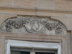 Hôtel Fevret de Saint-Mesmin - Français:   Dijon - Hôtel Févret de Saint-Mesmin - Décor d\'une fenêtre