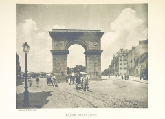 Porte Guillaume - English: Print of a photograph of Porte Guillaume, Dijon. Photograph was taken by