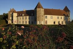 Château - Vue de l'arrière, sur la tour des Archives (au centre) et la tour de Condé (à gauche).