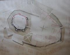 Château - plan du château d'Epoisses en 1794.