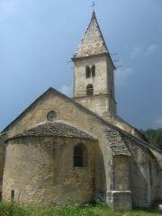 Chapelle de Fixey -  Eglise du hameau de Fixey, près de Fixin, Bourgogne, France. Chevet.