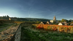 Eglise - English: Panorama of Fixin, Côte d'Or, France
