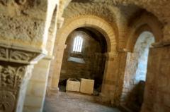 Ancienne abbatiale Saint-Pierre de Flavigny - La crypte carolingienne de l'Abbaye Saint-Pierre de Flavigny (Bourgogne, France)