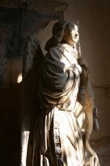 Eglise Saint-Genest - Eglise de Flavigny-sur-Ozerain Statuaire Ange de l'Annonciation XVe siècle