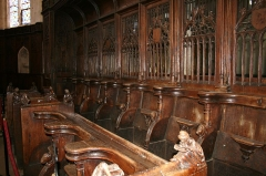 Eglise Saint-Genest -  Flavigny sur Ozerain Eglise Saint Genest Stalles