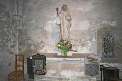 Eglise Saint-Bernard - Statue de Saint-Bernard dans l'église de Fontaine-lès-Dijon