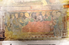 Eglise Saint-Bernard - Fresque de la dormition de la Vierge dans l'église Saint-Bernard de Fontaine-lès-Dijon