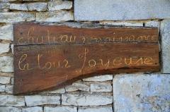 Château - Français:   Panneau d\'information sur le château de Jours-lès-Baigneux