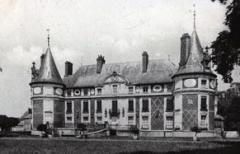 Château avec ses douves et ses communs - Español: Castillo de Longecourt hacia 1900.