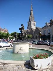 Eglise - English: Meursault, (Côte-d'Or, Fr) fountain.