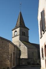 Eglise Saint-Germain d'Auxerre - Deutsch: Kirche Saint-Germain-d'Auxerre in Monthelie im Département Côte-d'Or (Bourgogne-Franche-Comté/Frankreich), Turm