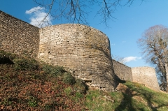 Château -  Medieval tower of the fortified enclosure of the castle of Mont-Saint-Jean, Côte-d'Or