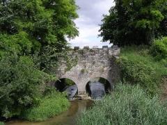 Pont-aqueduc des Arvaux sur la Varaude -  Le pont-aqueduc des Arvaux (commune de Noiron-sous-Gevrey Côte-d'Or) créé par les moines cisterciens de l'abbaye de Cîteaux. La Varaude coule sous les deux arches du pont-aqueduc.