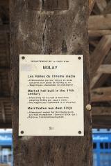 Halle aux grains - Deutsch: Markthalle in Nolay im Département Côte-d'Or (Bourgogne-Franche-Comté/Frankreich), Informationsblatt