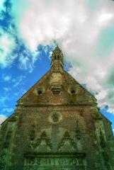 Château - Façade de l'entrée, Chapelle castrale, Pagny-le-Château (Côte d'Or, Bourgogne, France)