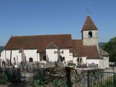 Eglise - English: Roman church Saint-Saturnin, Reulle-Vergy, Burgundy, France. View from the south.