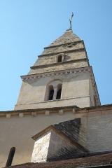 Eglise - Deutsch: Katholische Kirche Saint-Aubin in Saint-Aubin im Département Côte-d'Or (Bourgogne-Franche-Comté/Frankreich), Turm