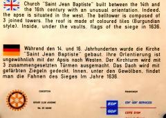 Eglise - Deutsch: St.-Jean-Baptiste, Text Hinweisschild