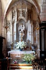 Eglise - Deutsch: St.-Jean-Baptiste, Nebenaltar, südl. Seitenschiff