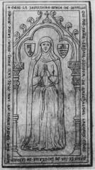 Eglise Saint-Florent - Tombe de Marie de Joinville, femme de Jean de Tilchatel