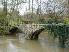 Pont sur l'Oze - English: Old bridge across the Oze river in Venarey-les-Laumes, Côte d'Or, France.