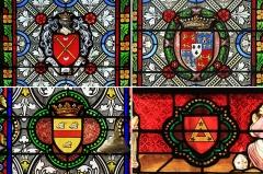Eglise Saint-Germain d'Auxerre - Quatre blasons extraits des vitraux de l'église de Vitteaux