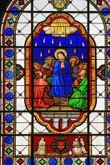 Eglise Saint-Germain d'Auxerre - Vitrail de la Pentecôte dans l'église de Vitteaux