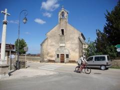 Cimetière - English: Volnay (Côte-d'Or, Fr) Chapel and wayside cross