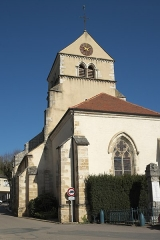 Eglise - Deutsch: Katholische Kirche Saint-Cyr-et-Sainte-Julitte in Volnay im Département Côte-d'Or (Bourgogne-Franche-Comté/Frankreich)